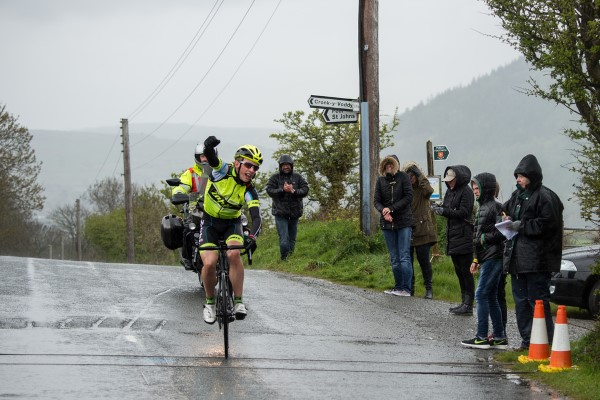 Charlie Quarterman wins on a very wet and windy Isle of Man